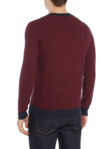 Hugo Boss Kuvudo textured knit cotton blend