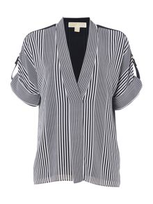 Michael Kors Longsleeve Striped Blouse Top