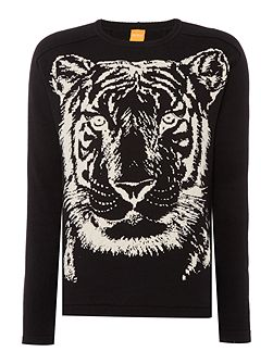 Kiger tiger print knitted jumper