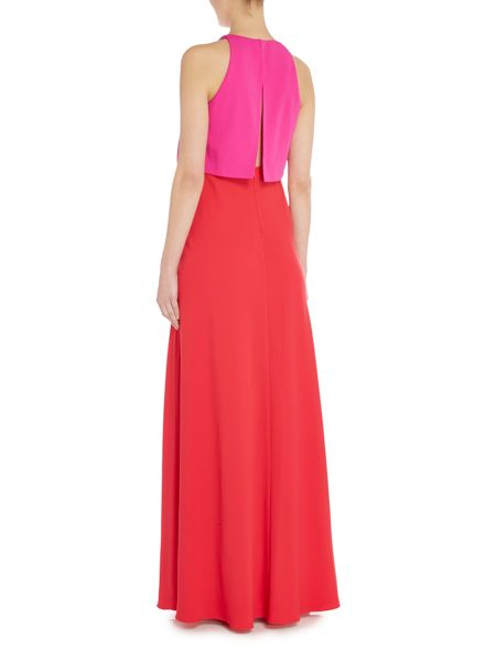 Jill Jill Stuart Illusion crop top gown in colour block
