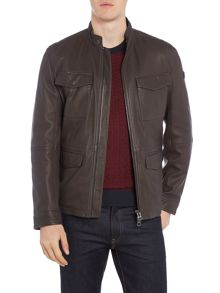 Hugo Boss Jeep 4 pocket leather jacket