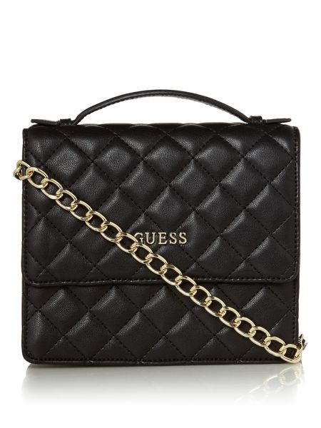 Guess Alanis quilt flapover cross body bag