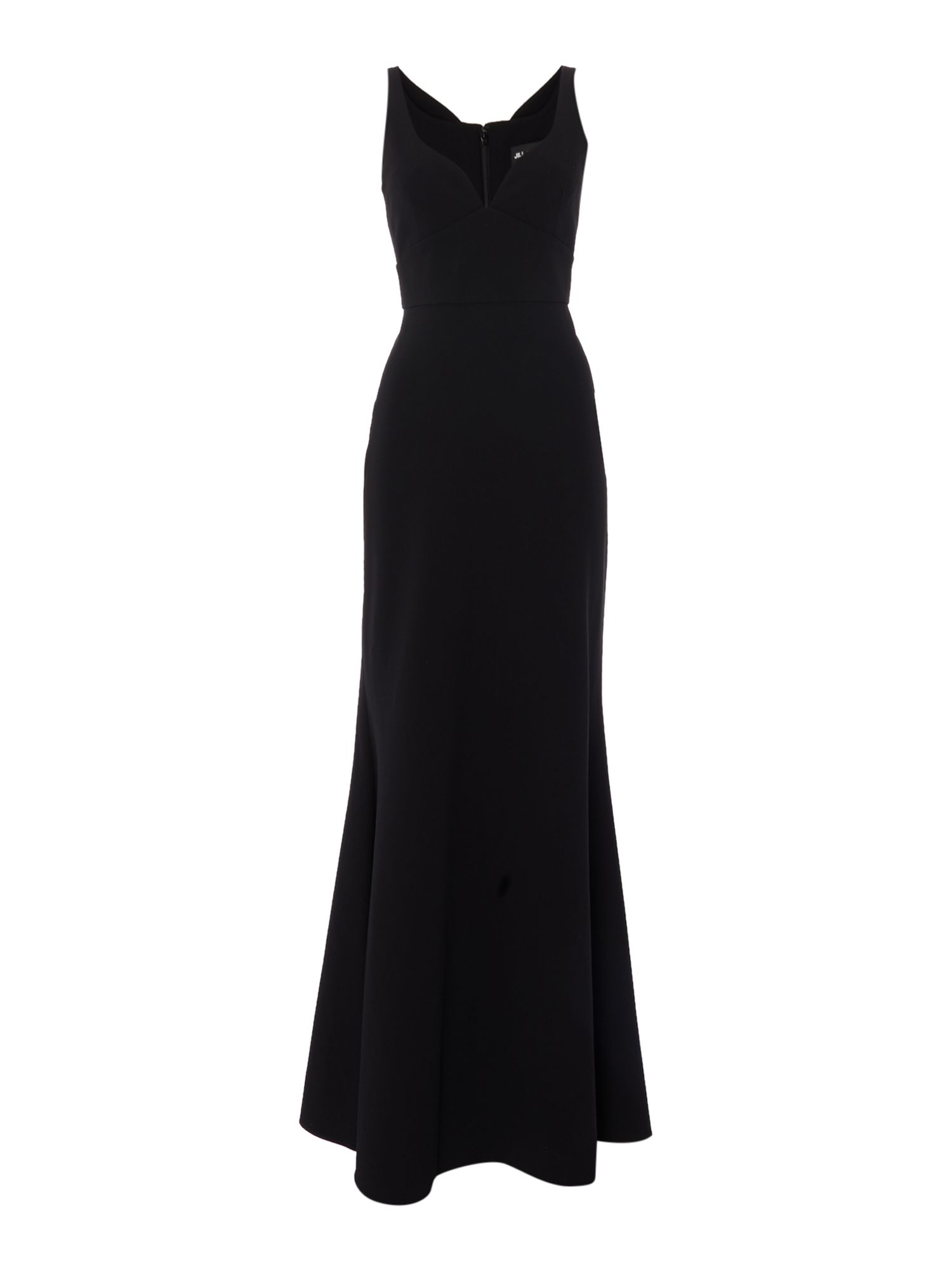 Jill Jill Stuart V neck sweetheart gown, Black