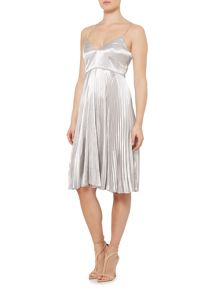 Bardot sierra sleeveless pleated dress