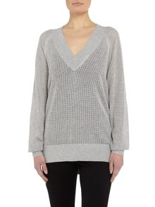 Michael Kors Deep Knitted V Neck Sweater