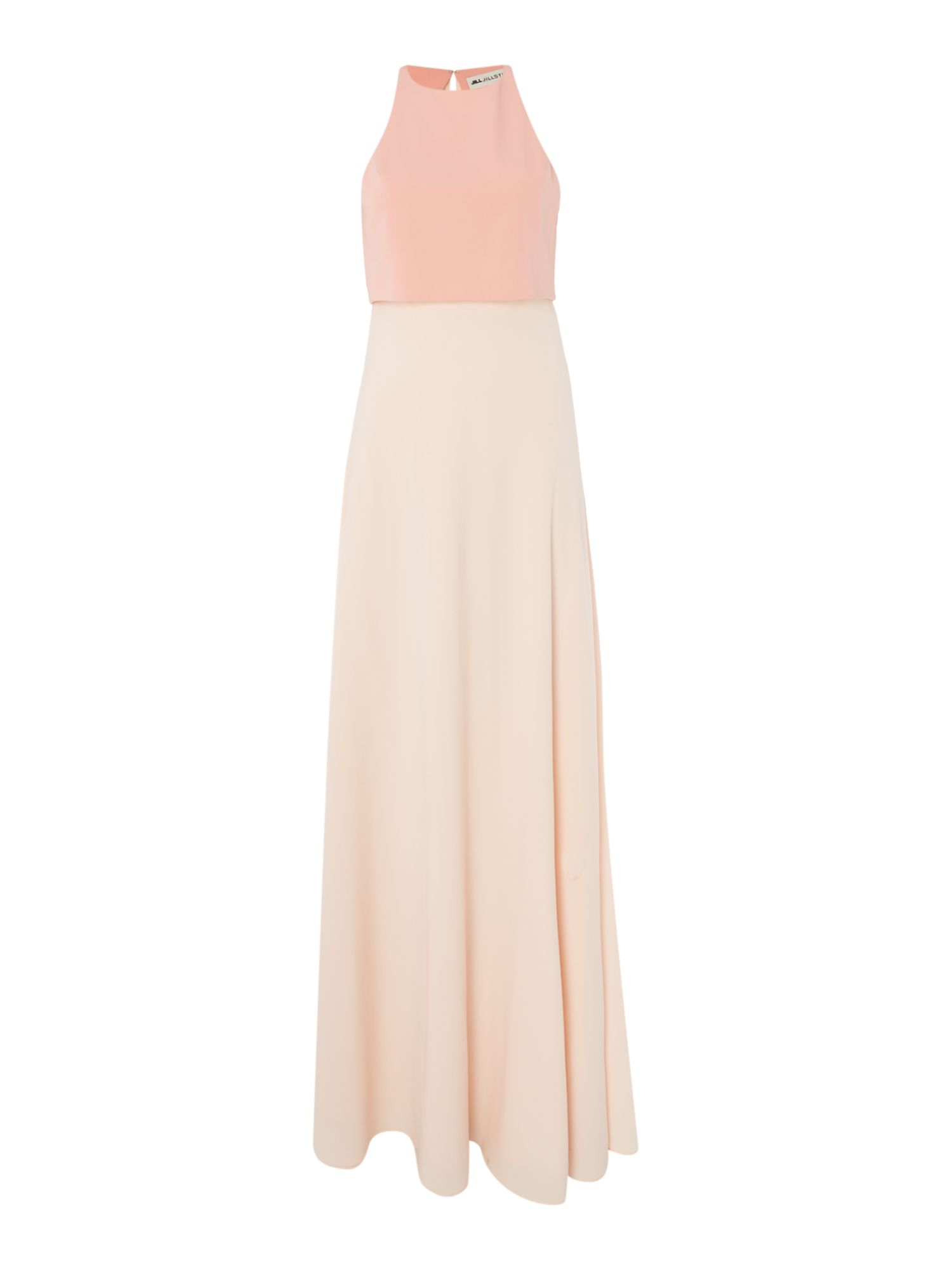 Jill Jill Stuart Illusion crop top gown in colour block, Pink