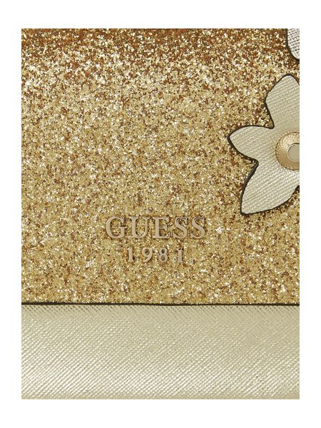 Guess Eletric party glitter flapover bag