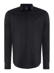 Armani Jeans Regular fit long sleeve stretch poplin shirt