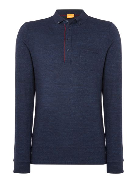 Hugo Boss Patcherman long sleeve button down polo shirt