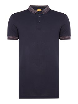 Pilipe space dye trim polo shirt