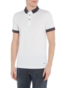 Hugo Boss Pilipe space dye trim polo shirt
