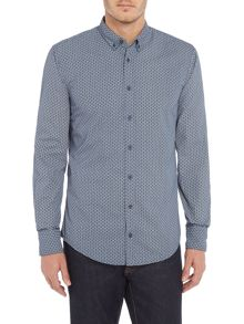 Hugo Boss Edipoe slim fit geo printed shirt