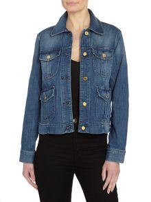 Michael Kors Longsleeve Denim Cargo Jacket