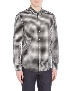 Hugo Boss Edipoe slim fit gingham checked shirt