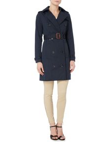 Michael Kors Outerwear Longsleeve Print Lined Trench Coat