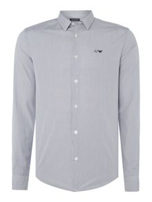 Armani Jeans Regular fit pin stripe long sleeve shirt