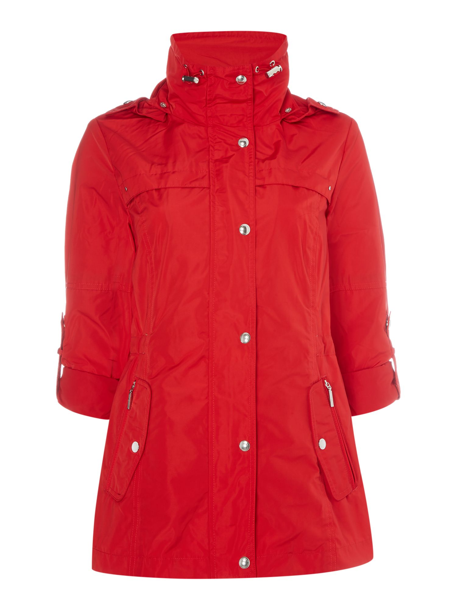 Weatherproof Anorak with hood, Red