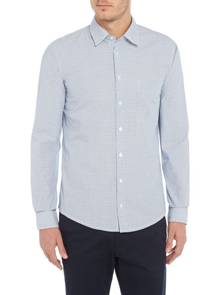 Hugo Boss Enamee slim fit micro dobby printed shirt