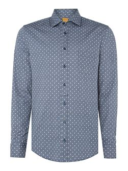 Eslime slim fit all-over paisley printed shirt
