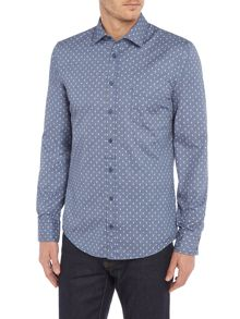 Hugo Boss Eslime slim fit all-over paisley printed shirt