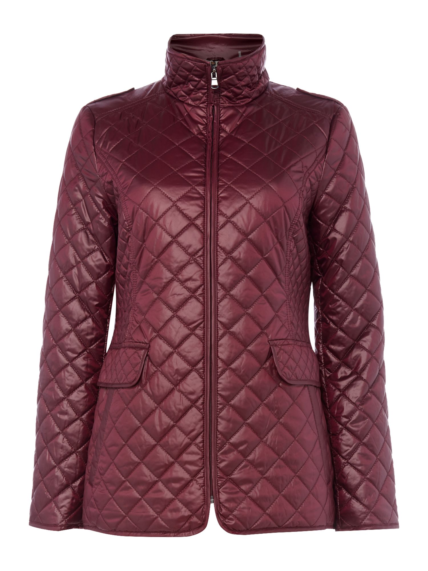 Ellen Tracy Short quilted jacket, Purple