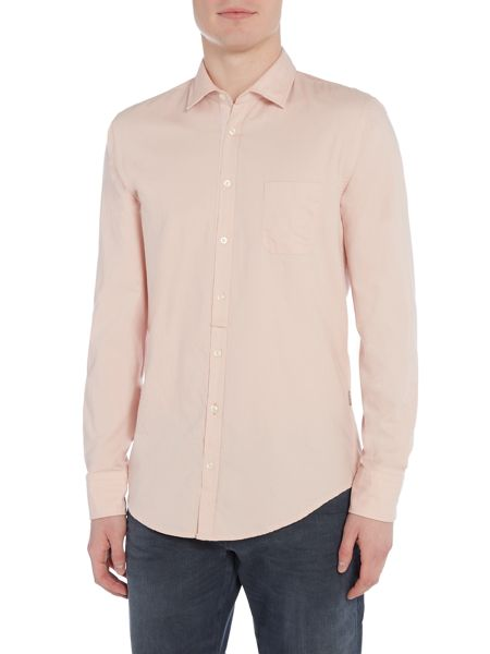 Hugo Boss Eslime slim fit 1 pocket twill shirt