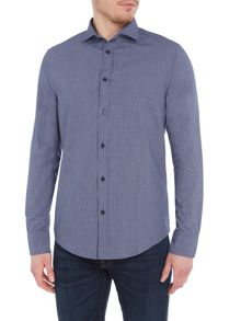 Armani Jeans Regular fit dotted chambray long sleeve shirt