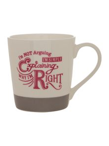 Churchill I`m right mug
