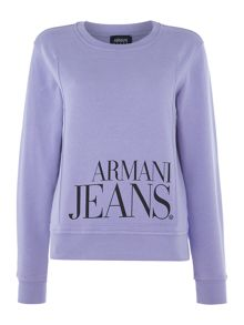 Armani Jeans Long sleeve logo sweater in 1305 viola