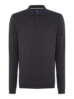 Smart Long-Sleeve Cotton Polo-shirt