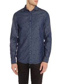 Armani Jeans Regular fit eagle print long sleeve shirt