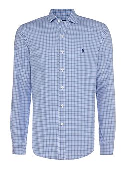 Slim fit 2 colour gingham shirt