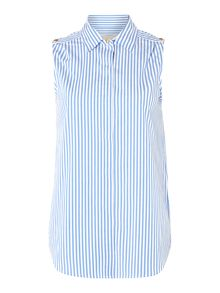 Michael Kors Sleeveless Striped Top