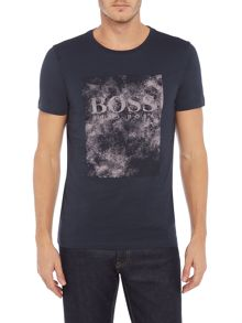Hugo Boss Theon square logo graphic print t-shirt