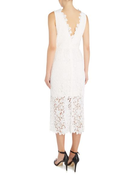 Jill Jill Stuart Lace midi dress with V neck