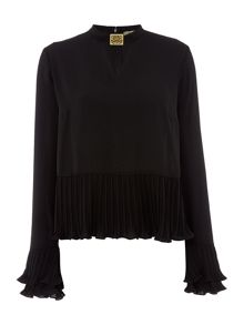 Biba Pleat detail hardwear blouse