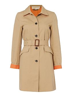 Outerwear Longsleeve Two Tone Trench