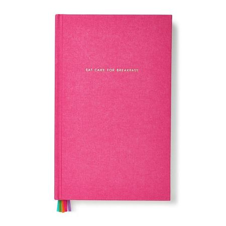 Kate Spade New York Pink `Eat Cake for Breakfast` Journal