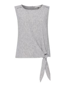 Maison De Nimes Port Linen Sleeveless Top