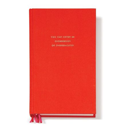 Kate Spade New York Red `overdressed or overeducated` Journal