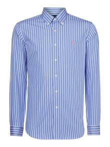Polo Ralph Lauren Custom fit butcher stripe long sleeve shirt