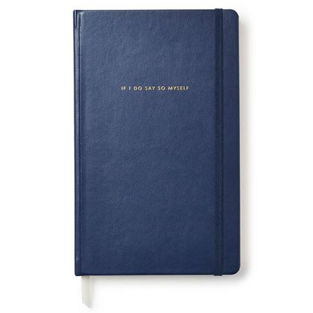 Kate Spade New York Navy `if I do say so myself` notebook
