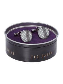 Ted Baker GARBO CARBON FIBRE CUFFLINKS