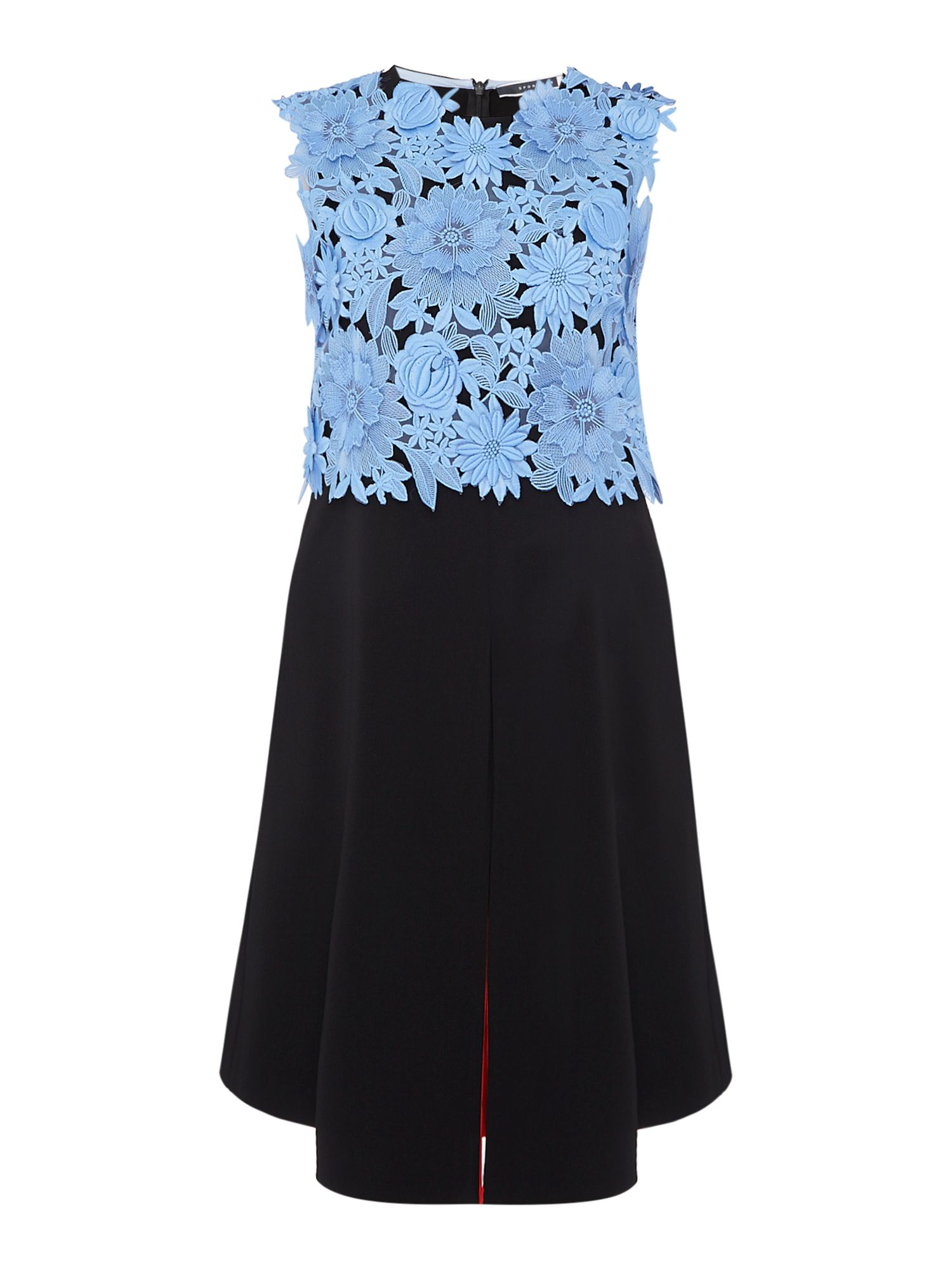 Sportmax Code FIDA sleeveless embroidered floral top, Black