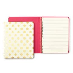 Kate Spade New York Gold Pavillion medium spiral Notebook