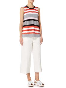 Sportmax Code AGRO Sleeveless striped frill top