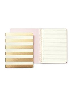 Gold Stripe medium spiral Notebook