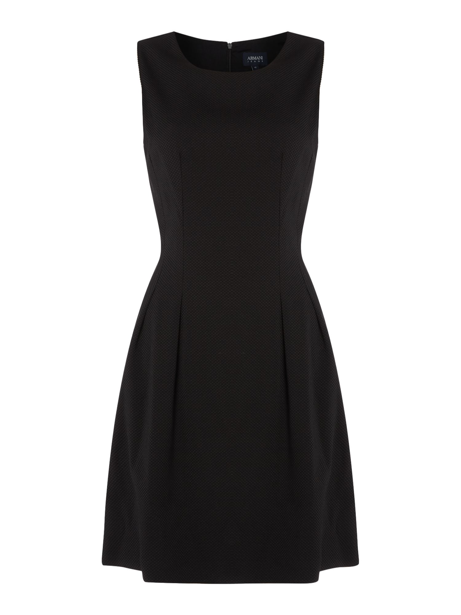 Armani Jeans Sleeveless jacquard dress in nero, Black