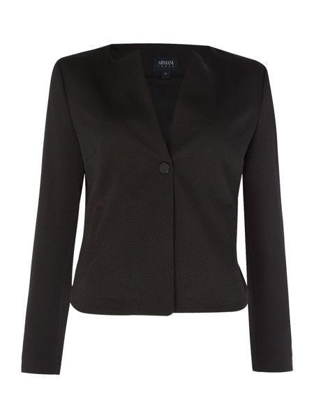 Armani Jeans Jacquard texture jacket in nero