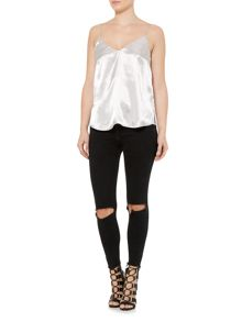 Bardot mercury sleeveless cami top